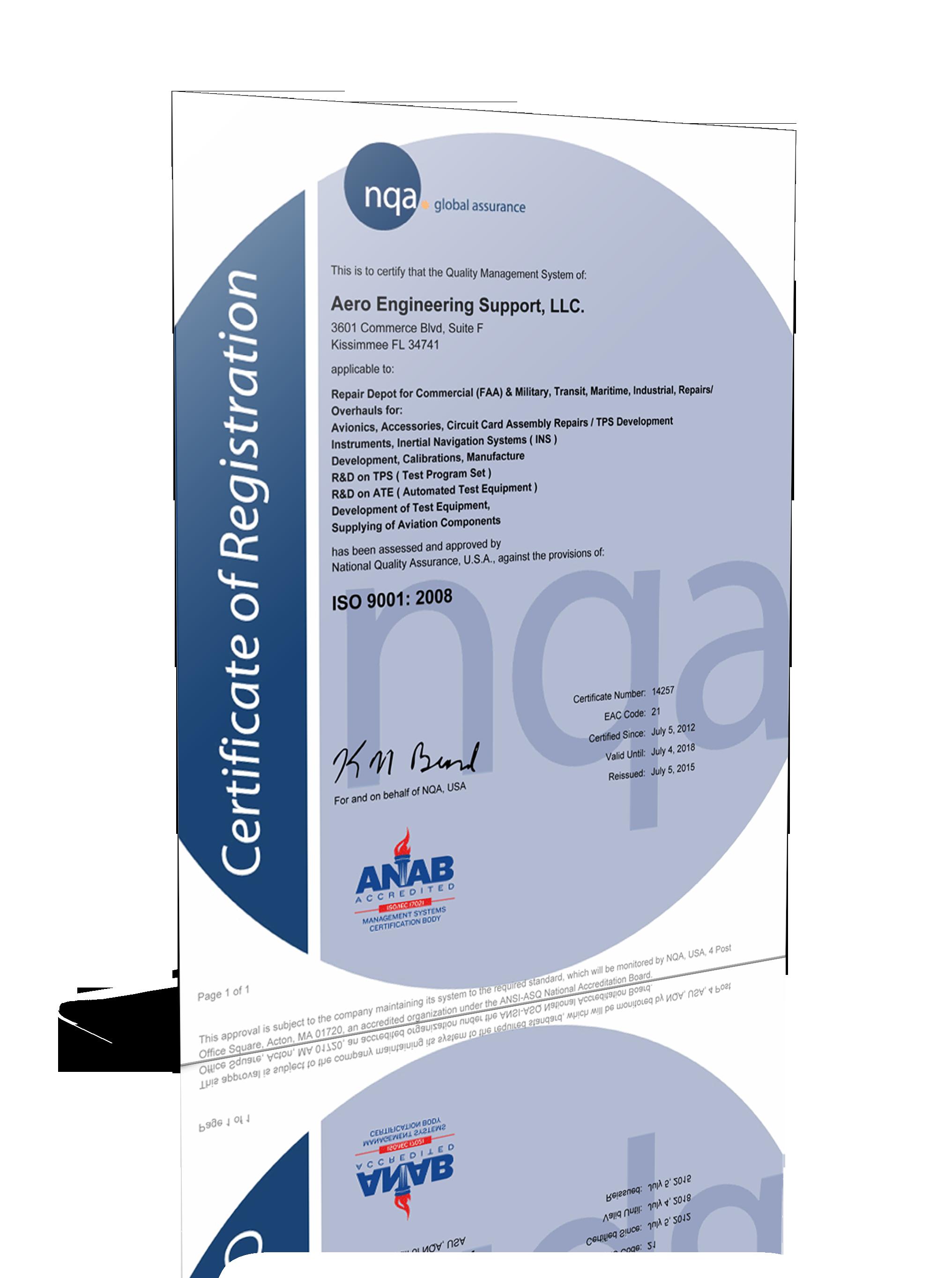 Certifications aesg asiso certificate xflitez Gallery